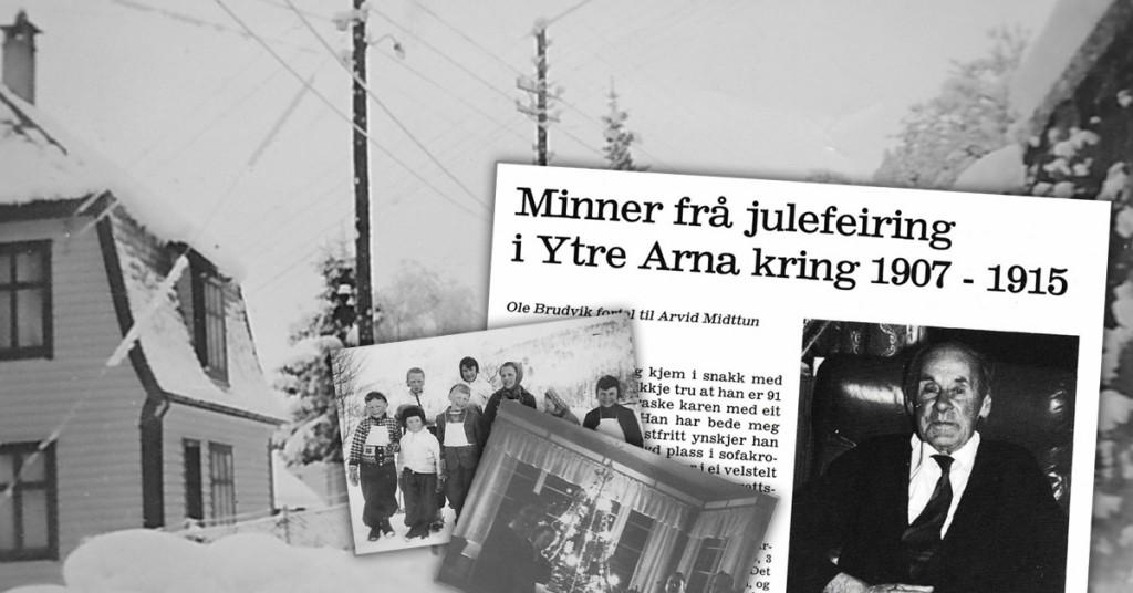 Jul i Ytre Arna rundt 1907-1915