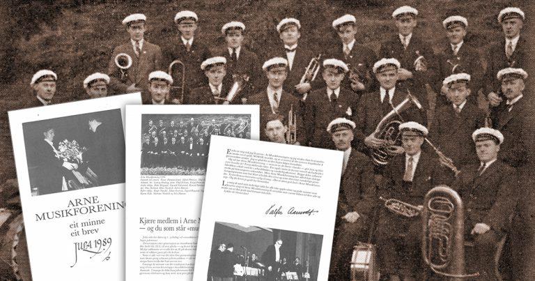 Arne Musikforening – Minnebrev 1989